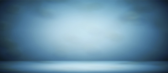 blur abstract soft  blue  studio and wall background