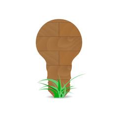 Wooden form lamp idea