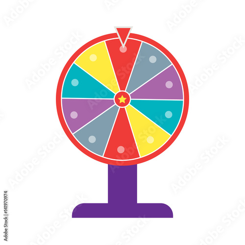 Wheel of fortune flat design imagens e vetores de stock for Online wheel of fortune template