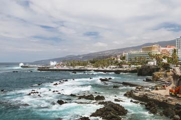 Puerto del la Cruz in Tenerife, Spain.