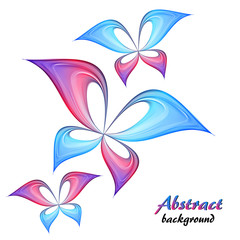 Abstract blue and pink butterfly