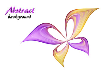 Abstract purple and yellow  butterfly