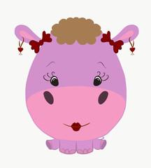 funny hippo girl