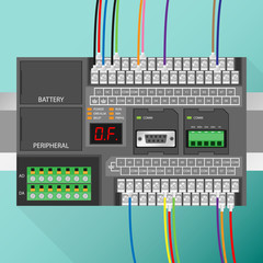 PLC with Wiring