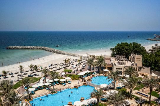 Ajman. August 2016. Beach hotel Ajman Saray.
