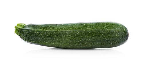 green zucchini vegetables isolated on white background