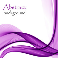 Abstract background with purple waves