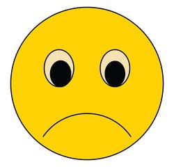 Sad smile, Sad emoji