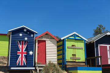 Beach houses, Frankston, Victoria, Australia
