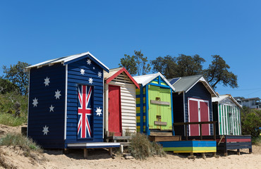 Beach houses, Frankston, Victoria, Australia