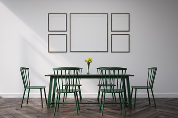 Dining room with pictures