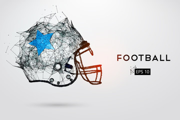 American Football Helmet in black. Vector illustration