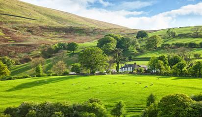 Beautiful spring landscape in Lake District National Park, Cumbria, England, UK.