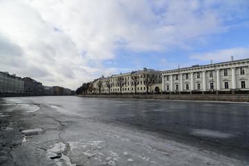 Embankment of the Fontanka river