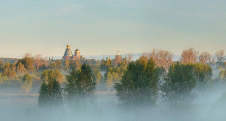 Early morning in rural Russia.