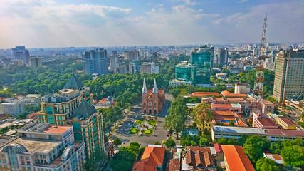 Fototapeta ホーチミン・サイゴン都市景観 obraz