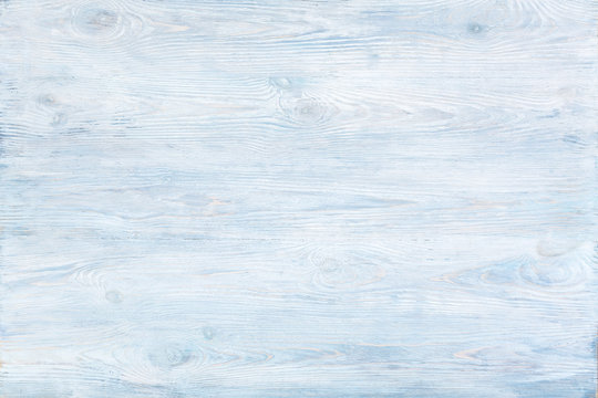 Blue painted wooden planks background texture.