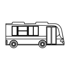 bus transport passenger public outline vector illustration eps 10