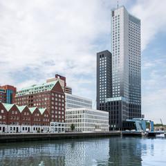 modernes Quartier in Rotterdam, Niederlande