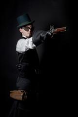 Man in Steampunk style