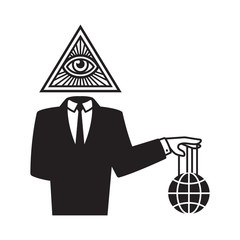 Illuminati conspiracy illustration