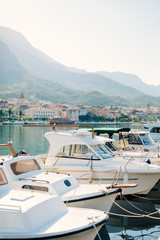 Boat dock, the city of Makarska, Croatia