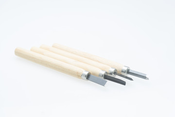 Woodcut equipment isolated