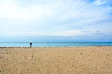 Minimalism on beach