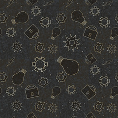 Abstract grunge technology pattern. Vector