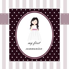 Postal para primera comunión