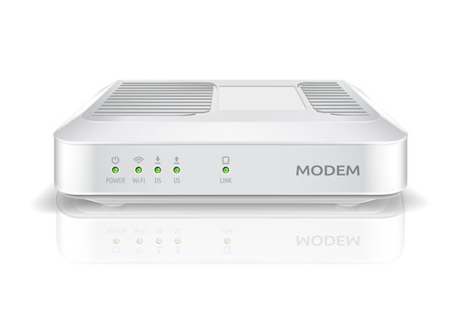 Modem router with wireless connection