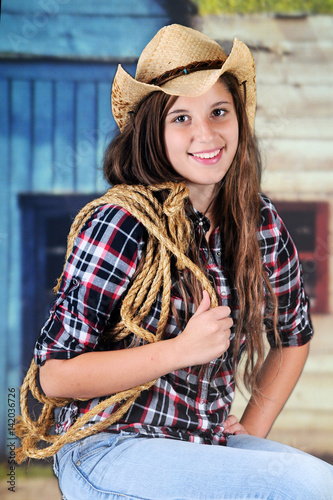 quotcowgirl with a ropequot stock photo and royaltyfree images