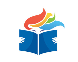 Modern Book Lover Logo - Passionate Reading Book Club