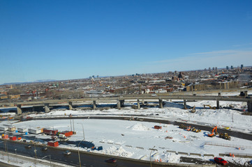 Aerial view of the Turcot project