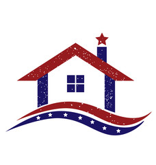 Logo patriotic american house vector design