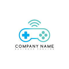 joystick game brand company template logo logotype vector art