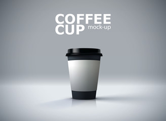 Paper coffee cup mockup.