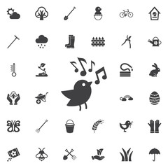 bird with music note icon