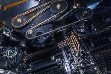 Timing chain of an industrial mechanism