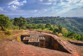 Rock Church of St . George in Lalibela
