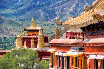 Ancient temples. Sera monastery near Lhasa, Tibet