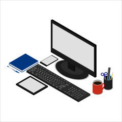 Office Desk. A set of icons
