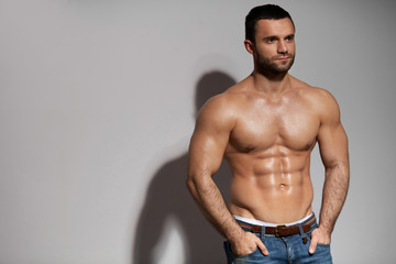 Handsome Hot Man With Athletic Body And Sexy Muscular Body