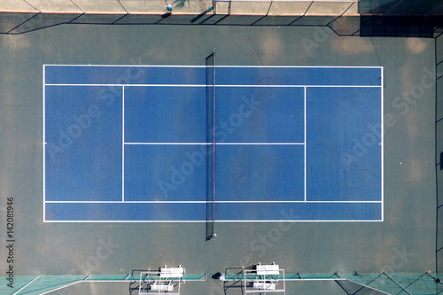 Tennis Court Top Down Aerial View Stock Photo And Royalty Free
