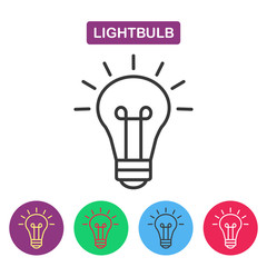 Lightbulb. Isolated line icon pictogram.
