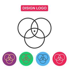 Disign logo. Color circle.