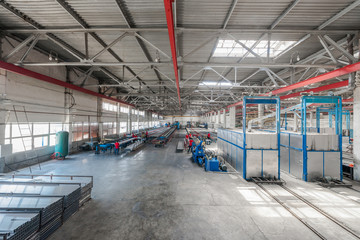 workshop for the production of aluminum profiles. workshop panorama