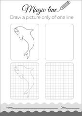Coloring book fish, dilfin Black