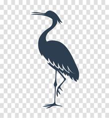 silhouette heron, stork, bird black