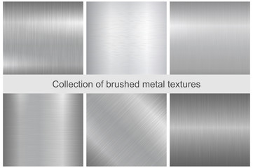 Photo sur cadre textile Metal Collection of polished metal textures.